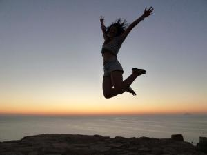 Emma sunset jumping